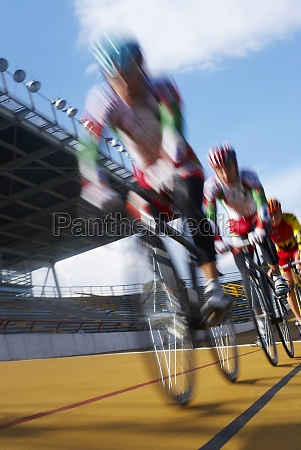cyclists participating in a bicycle race