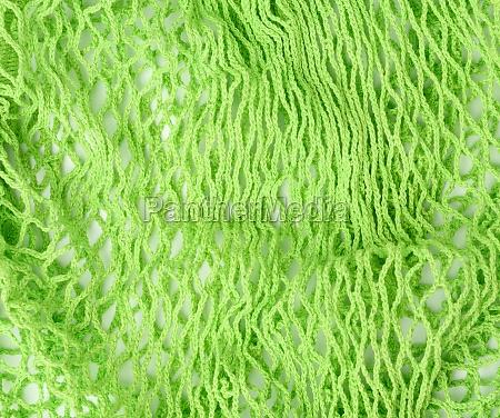 green cloth shopping bag texture