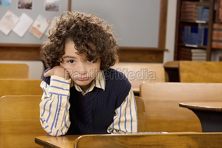 portrait of a schoolboy in a