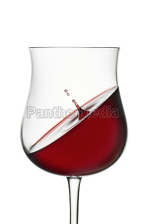 red wine in wineglass isolated on