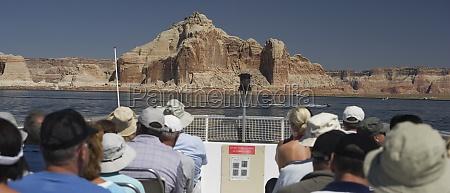 tourist on a boat glen canyon