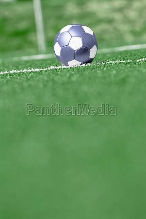 soccer ball in a field