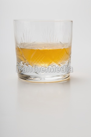 closeup of a glass of whiskey