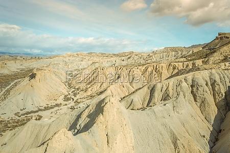 aerial view of tabernas desert landscape