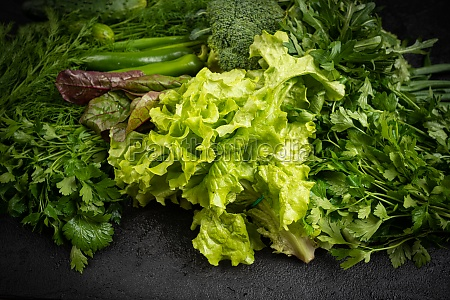 assorted raw vegetables background healthy