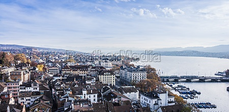 downtown of zurich beautiful view of