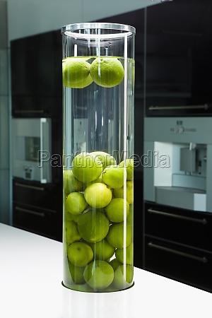 lemons in a jar on a