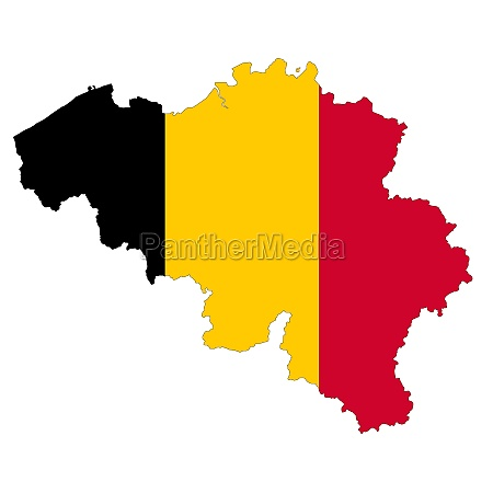 belgium map on white background with