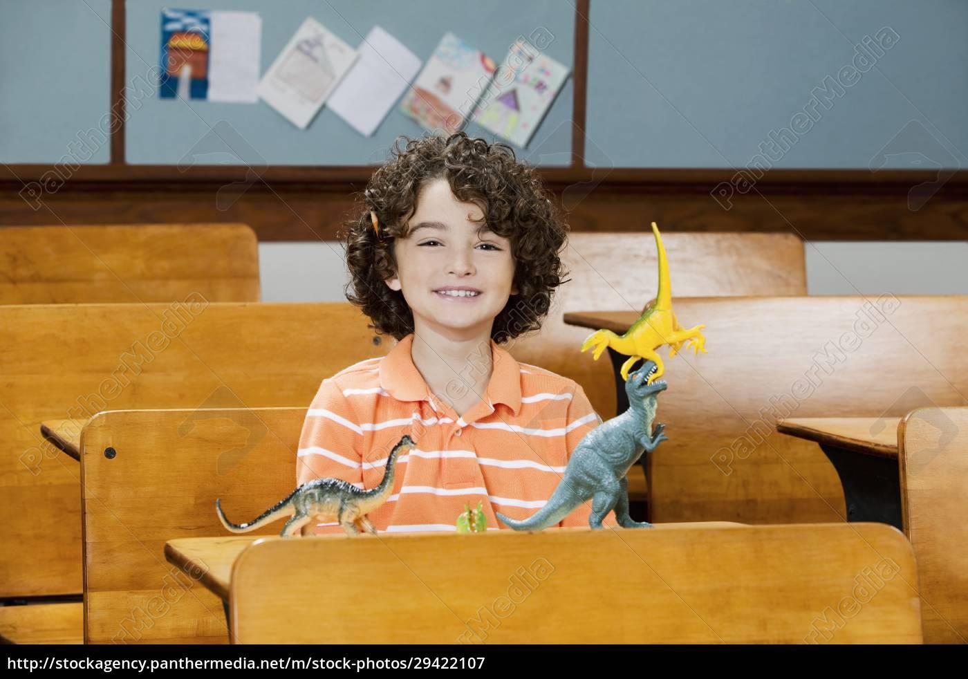 schoolboy, sitting, in, a, classroom - 29422107
