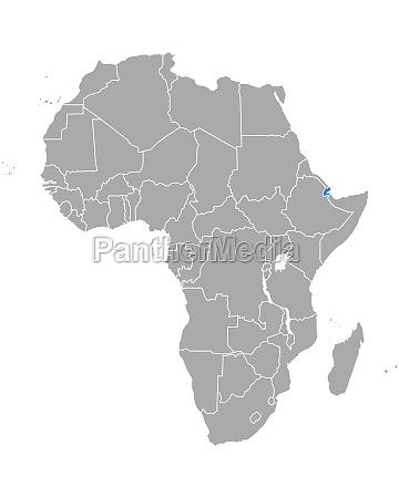 map of djibouti in africa