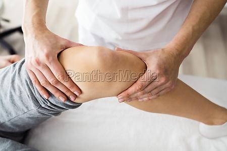 knee joint sports rehab massage