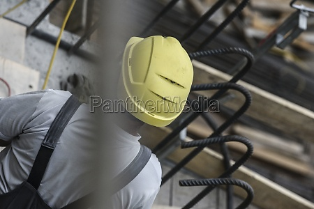 construction worker with construction helmet