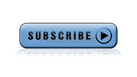 subscribe lettering blue button with