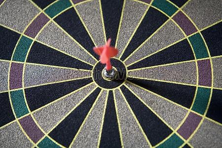 close up of a dart in