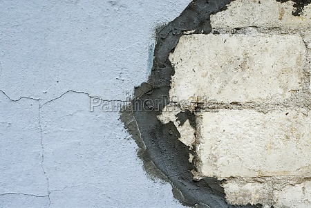 close up of a repaired wall