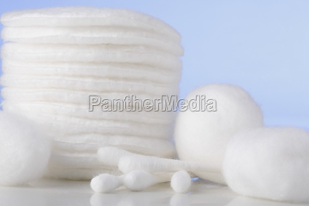 close up of cotton swabs with