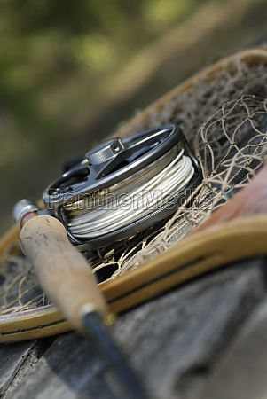 close up of a fishing rod