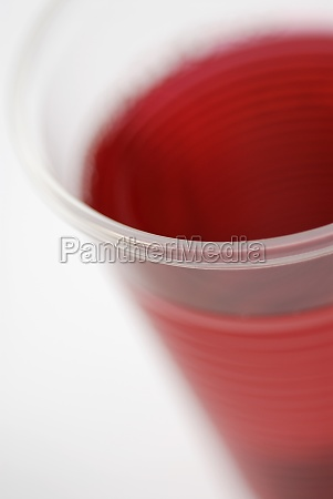 close up of a drink in