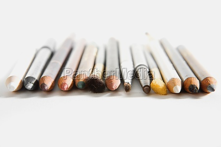 close up of cosmetics pencils