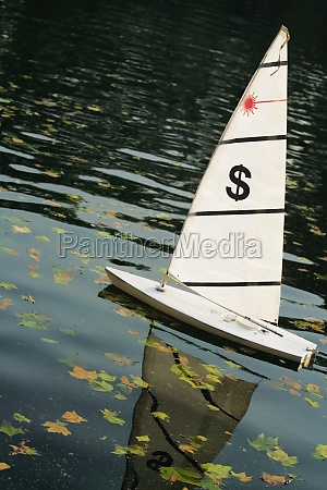 low angle view of a sailboat