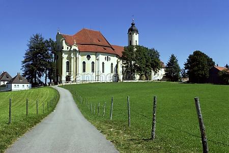 bavaria country church saint colemanZs church