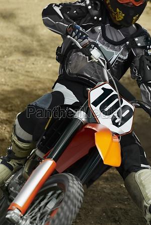 close up of a motocross rider