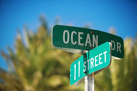 close up of a street name