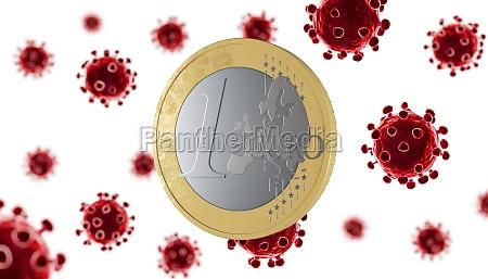 covid 19 coronavirus contagion one euro