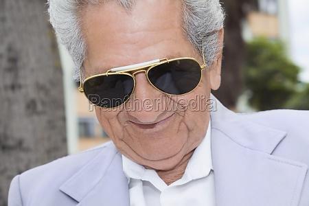 close up of a senior man