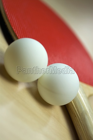 close up of table tennis balls