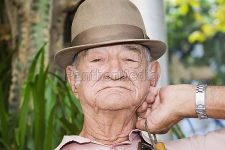 portrait of a senior man wearing
