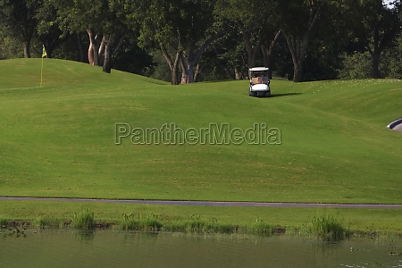 golf cart in a golf course