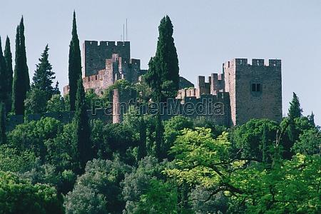castle behind trees crusader castle tomar