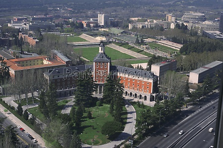 aerial view of a city madrid