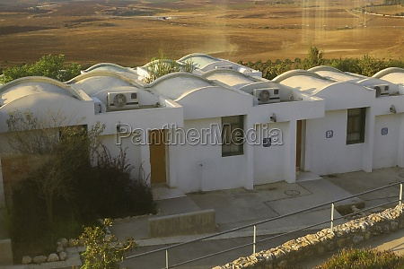 high angle view of house in