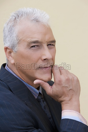 portrait of a businessman looking serious
