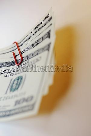 closeup of one hundred dollar bills