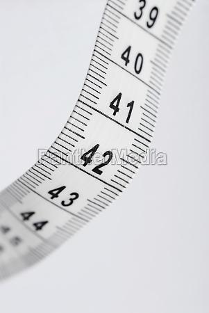 closeup of a tape measure
