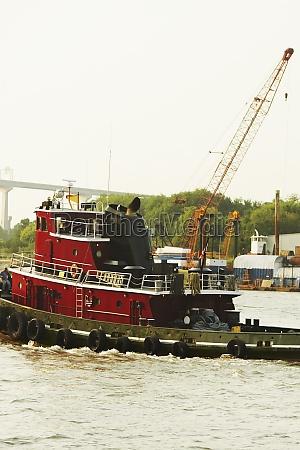 lifeboat in the river savannah georgia