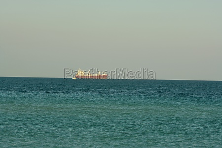 container ship sailing in the sea