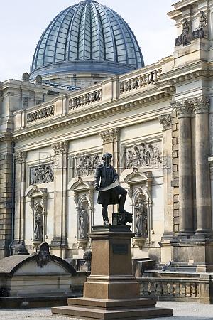 statue of gottfried semper german architect