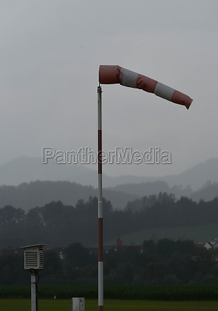 windsock indicating stormy winds on an