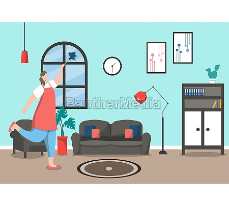 cleaning service concept vector flat design