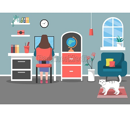 vector illustration people during quarantine from
