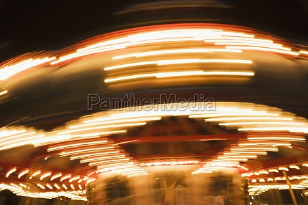 low angle view of a carousel