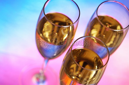 high angle view of champagne in