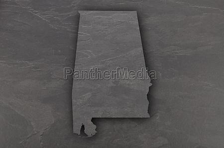 map of alabama on dark slate