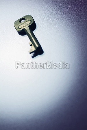 high angle view of a key