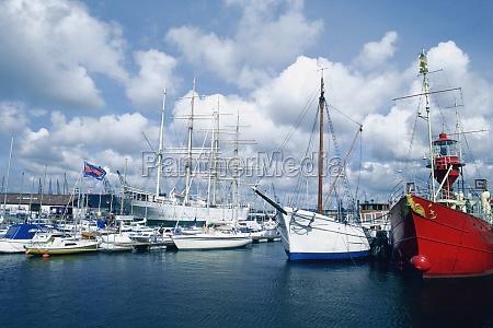 boats in a harbor gothenburg sweden