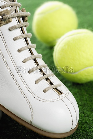 close up of a sports shoe